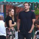 Caroline Wozniacki with fiance David Lee out in Portofino - 454 x 567
