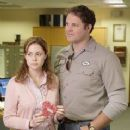 Jenna Fischer and David Denman