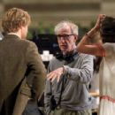 "Owen Wilson and a cigarette smoking Marion Cotillard film a scene for director Woody Allen's latest film ""Midnight in Paris"""