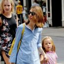 Sofia Coppola takes her daughter Romy shopping in Soho - 396 x 594