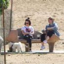 Lucy Hale – Taking her dog Elvis to a park in Los Angeles - 454 x 303