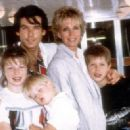Happy family: A young Charlotte with her half-brother Sean (being carried) and brother Christopher and their parents Pierce and Cassandra in 1985 - 454 x 327