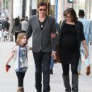 Milla Jovovich and her husband Paul W. S. Anderson take their daughter Ever shopping in Beverly Hills, California on December 20, 2014