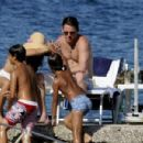 Jenna Dewan with Channing Tatum on the beach in Ischia, Italy (July 16, 2010)
