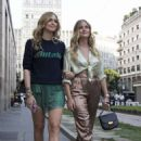 Chiara Ferragni with her sister out in Milano - 454 x 681