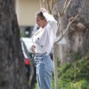 Hilary Duff – Outside her home in Los Angeles
