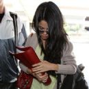 Selena Gomez was spotted making her way through the Los Angeles International Airport today, April 10