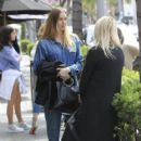 Whitney Port has lunch with a friend at La Scala in Beverly Hills, California on March 22, 2017 - 418 x 600