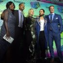 Viola Davis, Will Smith, Margot Robbie, Jared Leto and Joel Kinnaman at 'Suicide Squad' Premiere in New York 08/01/2016
