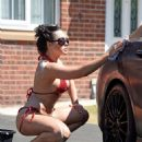 Jemma Lucy and Laura Alicia Summers in Bikini – Car Washing in Manchester - 454 x 547