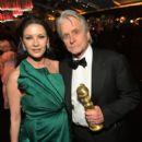 Catherine Zeta-Jones and Michael Douglas At The 76th Golden Globe Awards (2019) - 400 x 600