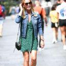 Amanda Holden in Mini Dress Exits Heart Radio in London - 454 x 681