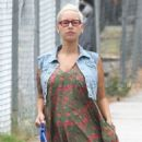 Amber Rose Out Walking in Hollywood, California - September 12, 2012