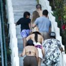 Kendall Jenner – In a bikini with friends in Malibu
