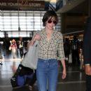 Milla Jovovich is seen at LAX
