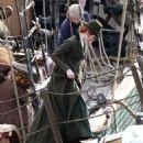 Eleanor Tomlinson – Filming 'Poldark' in Charleston - 454 x 511