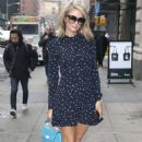 Paris Hilton in Mini Dress out in New York City
