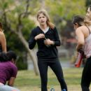 Selma Blair and Roselyn Sanchez – Working Out at a Park in Studio City - 454 x 630