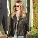 Ashley Tisdale Leaving Andy Lecompte Salon In West Hollywood