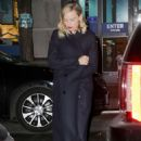 Margot Robbie in Long Coat out in New York