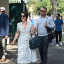 Candice Brown and fiance Liam Macaulay – Arriving at Wimbledon Tennis Tournament in London - 454 x 615
