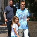 Justin Bieber takes his sister Jazmyn shopping at American Girl at The Grove in Los Angeles, California on September 2, 2016