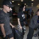 Jessie J at LAX Airport with her boyfriend in Los Angeles - 454 x 681