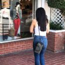 Aimee Garcia in a white tank top and denim jeans at Fred Segal in West Hollywood - 454 x 562
