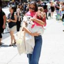 Katie Holmes: shopping at a Whole Foods Market in New York City