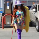 Phoebe Price at a gas station in Hollywood - 454 x 683