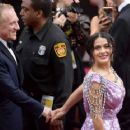 Salma Hayek and her husband François-Henri Pinault At The 90th Annual Academy Awards in Los Angeles