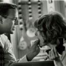 """Glenne Headly, Bruce Willis in the """"Breakfast of Champions"""", 1999"""