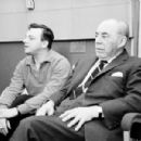 """stephen sondheim and richard rodgers listen to a playback for the cast album to """"Do I Hear A Waltz?''"""