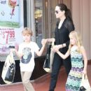 Angelina Jolie Shopping At Barnes and Noble In Studio City