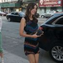 Victoria Justice Walks To Capitale Restaurant In Nyc