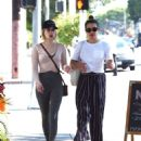 Emma Roberts and Lea Michele out in West Hollywood
