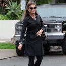 Patrick Schwarzenegger and his mother Maria Shriver are spotted out house hunting for Patrick in Hollywood, California on January 10, 2017 - 431 x 600