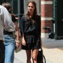 Actress Alicia Vikander is spotted out and about in New York City, New York on August 10, 2015