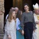 King Felipe VI of Spain, Queen Letizia of Spain attended Easter Mass in Palma  (April 1, 2018) - 399 x 600