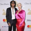 Amber Rose and Wiz Khalifa attend Pre-GRAMMY Gala and Salute to Industry Icons Honoring Debra Lee at The Beverly Hilton in Los Angeles, California - February 11, 2017 - 400 x 600