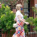 Emma Roberts – Wears colorful dress while running errands in Los Feliz