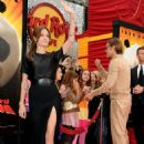 Angelina Jolie gets the support of  Brad Pitt at the Los Angeles premiere of DreamWorks Animation's Kung Fu Panda 2 held at Grauman's Chinese Theatre on Sunday (May 22) in Hollywood, California.