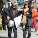 Billy Idol and new girlfriend Lindsay out shopping at Intermix in Malibu, Calfornia on March 24, 2012.