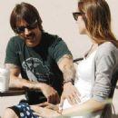 Anthony Kiedis and Nika (Model) - 454 x 466
