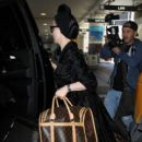 Dita Von Teese is seen at LAX on March 31, 2016
