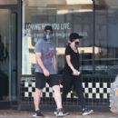 Katherine Schwarzenegger and Chris Pratt – Goes out for a morning walk in Santa Monica
