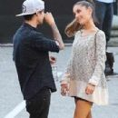 Ariana Grande spotted kissing ex-boyfriend Jai Brooks of The Janoskians backstage at iHeartRadio Awards May 1,2014 - 306 x 511