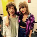 Mick Jagger & Taylor Swfit backstage at her 1989 tour in Nashville - 27 September 2015