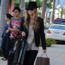 Carmen Electra Shopping in Beverly Hills
