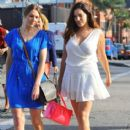 Kelly Brook stops by a nail salon in Beverly Hills, California with a friend on January 7, 2015